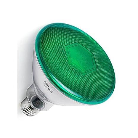 Faro Barcelona Par38 LED 17399 - Bombilla (bombilla incluida) LED, 10W, metal, policarbonato y cristal, color verde: Amazon.es: Iluminación