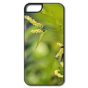 IPhone 5 5S Hard Plastic Cases, Grass White/black Covers For IPhone 5/5S
