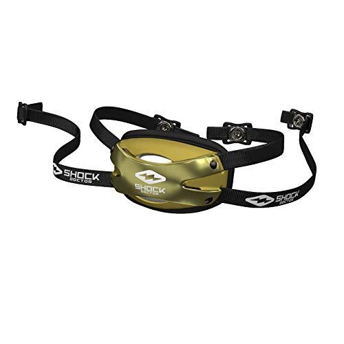 Shock Doctor Chin Strap Football Helmet (Chrome Gold, Adult - Small/Medium)