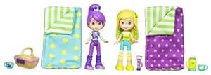 Hasbro Tarta de Fresa y sus accesorios Tarta de Limón y Ciruelita van de camping bajo las estrellas - Pack temático con 2 muñecas y accesorios