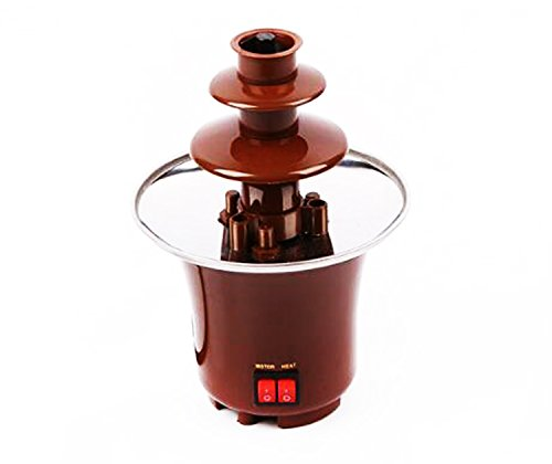 HOMEE Chocolate Fondue Fountain Stainless Steel Cascading Deluxe Electric Dessert for Party Wedding Hotel