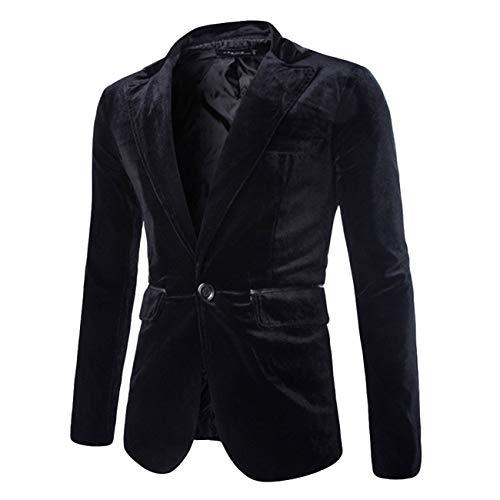 Seul Côtelé Velours En Casual Hommes Pur Homme Veste Bouton Noir Manteau Fashion 4wqf0T4