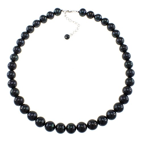 (Natural Black Freshwater Cultured Pearl Strand Handmade Necklace for Women)