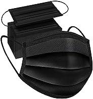 100PCS Black Disposable Face Mask 3 Ply Filter Protection Face Masks Facial Cover