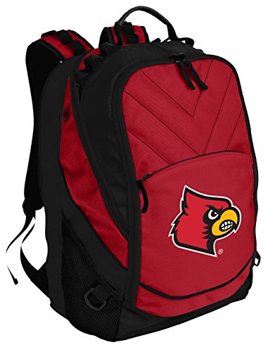 Broad Bay Louisville Cardinals Backpack Red University of Louisville Laptop Computer (Louisville Backpack)