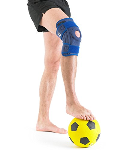 Neo G Knee Brace, Stabilized Open Patella - Support For Arthritis, Joint Pain, Meniscus Tear, ACL, Running, Basketball, Skiing – Adjustable Compression – Class 1 Medical Device – One Size – Blue by Neo-G (Image #6)