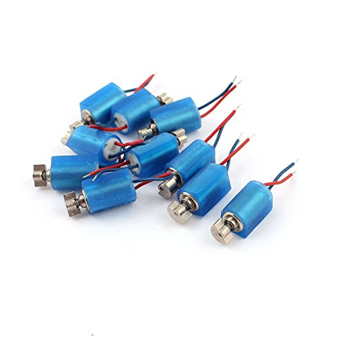 uxcell 10pcs DC 3V 3500RPM Pager Cell Phone Micro Vibration Motor 4mm x 8mm