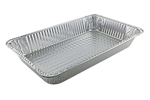 Full Size Disposable Reusable Aluminum Foil Steam Table Pan Takeout Lasagna Tray (30, 13 X 20 Full Size Heavy-Duty)