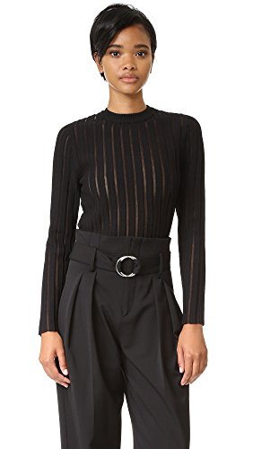 camilla-and-marc-womens-sheer-stripe-knit-sweater-jet-black-x-small