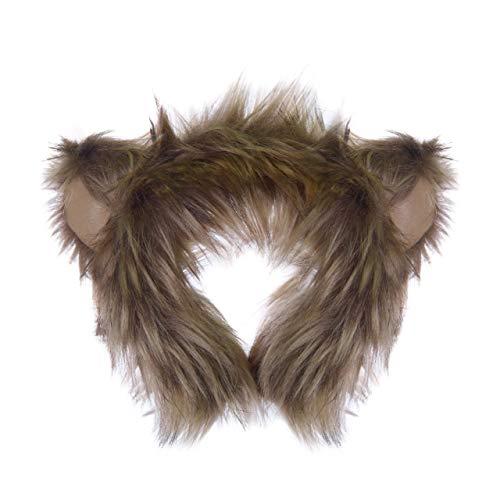 Wildlife Tree Plush Monkey Ears Headband Accessory for Monkey Costume, Cosplay, Pretend Animal Play or Safari Party -