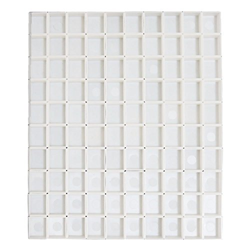 Fclub Plastic Empty Watercolor Paint Pans - 100pcs Half Pans Watercolor Empty by Fclub