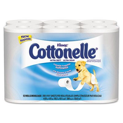 C-Klnx Cottonelle 1Ply T/T 165Sh Whi 4/12Rl