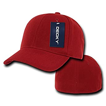 Decky Fitted - Gorra para Hombre, Color Rojo, Talla Size 22 ...