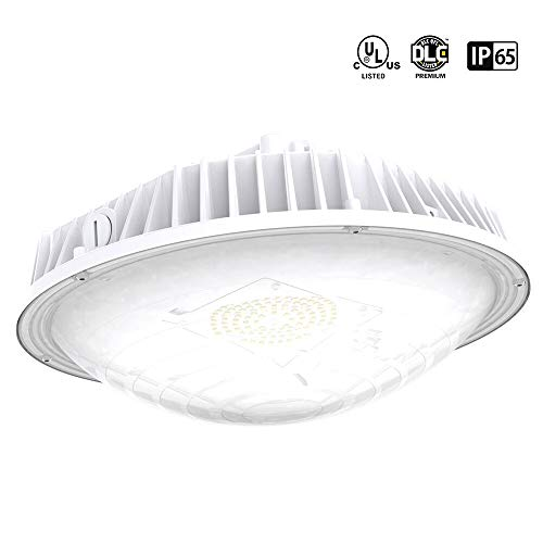 LED Canopy Light 60W 7800lumen 4000K IP65 Waterproof, DLC-Qualified & UL-Listed LED Parking Garage Lights for Basement Warehouse Yard