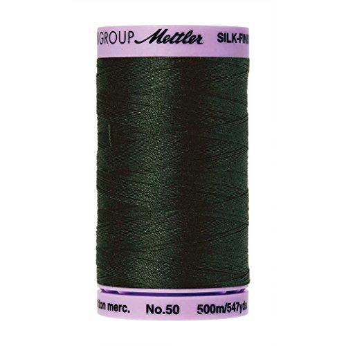 Mettler Silk-Finish Solid Cotton Thread, 547 yd/500m, Enchanting Forest (Yd Forest Green)