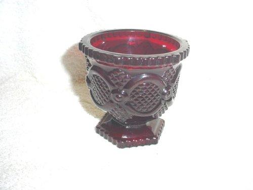 Avon Red Cape Cod Sugar Bowl