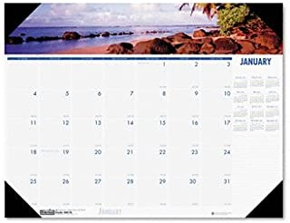 product image for House of Doolittle 178 Coastline Photographic Monthly Desk Pad Calendar, 22 x 17 (1 Each)