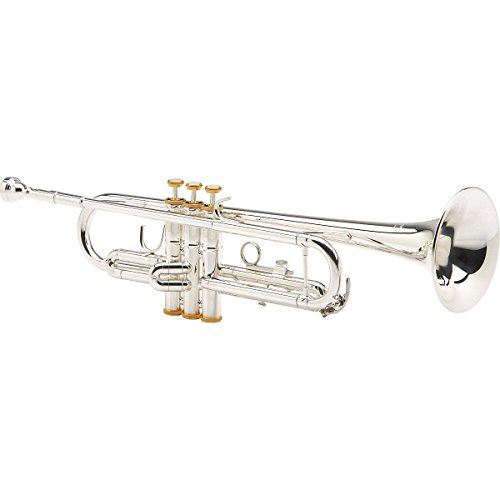 Ravel By Blessing RTR531SP Trumpet, .460 & Case – Silver with Gold Trim