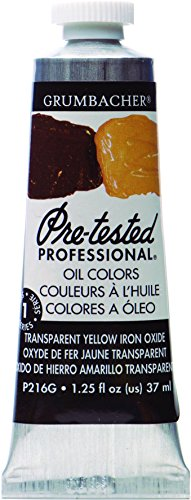 (Grumbacher Pre-Tested Oil Paint, 37ml/1.25 Ounce, Transparent Yellow Iron Oxide (P216G))