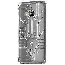 HTC One M9 Case, Cruzerlite Bugdroid Circuit TPU Case for HTC One M9 (Hima) - Retail Packaging - Clear