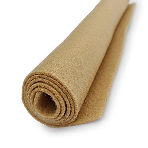 (National Nonwovens Beige Tan - Light Brown - Premium Acrylic Felt XL Craft Sheet)