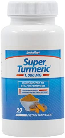 Instaflex Super Turmeric – 1000mg Turmeric Curcumin with BioPerine, Black Pepper Extract, 95 Curcuminoids
