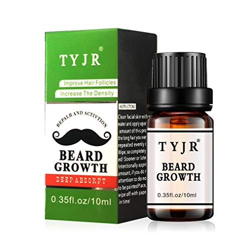 1PC New Creative 10ml Beard Growth Essential Oil Moustache Styling Moisturizing Gentlemen Care (Green)]()