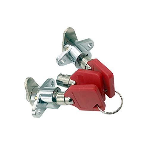 Hard Saddlebag Saddle Bag Lock Set For Harley Touring Model 1993-2013 FLH Road King Electra Glide (Red)