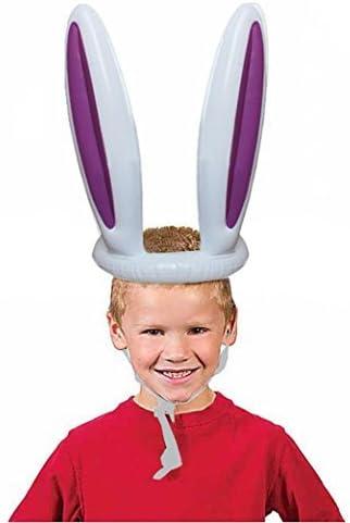 Gioco Bambini Cappello Gonfiabile Forma Orecchie del Coniglietto Con Anello