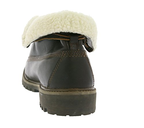 Timberland Mens Af Roll Top Leather Laced Fur Cuff Winter Ankle Boot OHbMbz