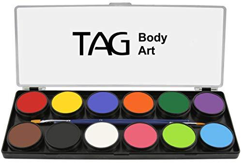 TAG Face & Body Paint – Regular Palette 12 x 10g