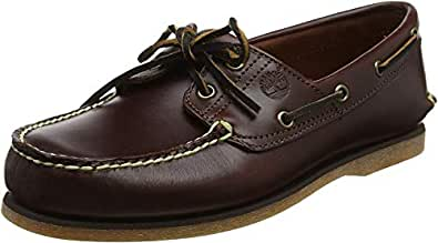 Timberland Men's Classic 2-Eye Boat Shoe, Rootbeer/Brown, 6.5 W