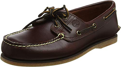 Timberland Men's Classic 2-Eye Boat Shoe, Rootbeer/Brown, 9.5 M (Shoes Boat Bass)