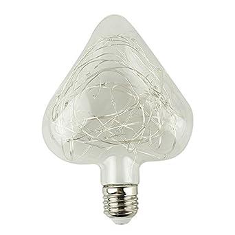 SODIAL(R) Bombilla LED RGB E27 85-265Vde Edison de lampara Iluminacion de Corazon rgb Bombillas de luz de tira de Decoracion especiales AMOR rosa: ...