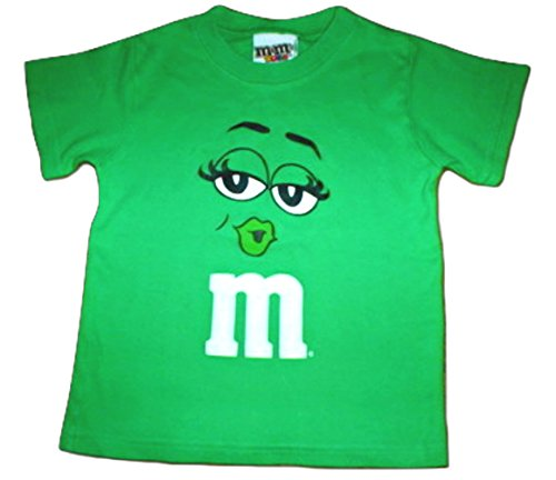 M&M M&M's Candy Silly Character Face T-Shirt (X-Large, Green Kiss)