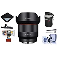 Rokinon 14mm F2.8 AF Wide Angle, Full Frame Auto Focus Lens for Canon EF - Bundle With Lens Case, Cleaning Kit, Lens Wrap, Lenspen Lens Cleaner, Capleash II, Mac Software Package