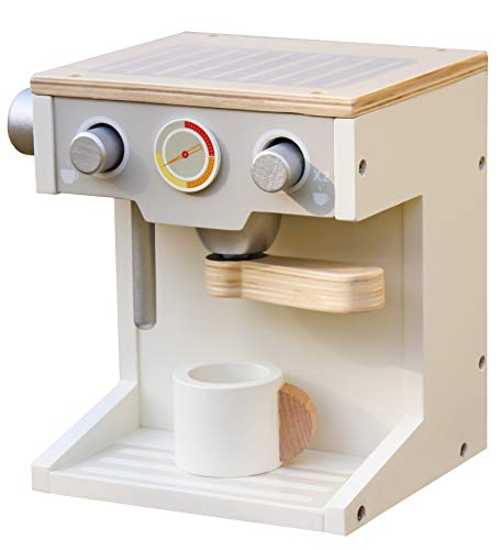 london-kate Deluxe Wooden Toy Coffee Maker with Cup Doll - Maker Set Play Coffee