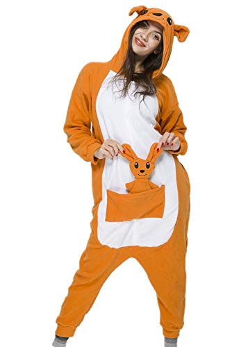 Unisex Adult Kangaroo Pyjamas Halloween Costume One Piece