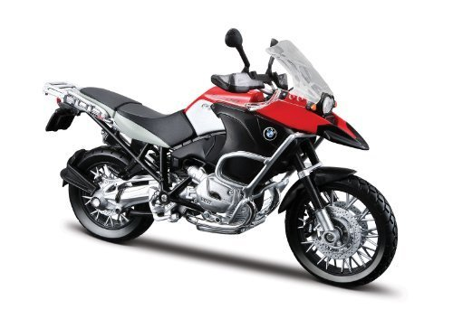 Maisto Motorcycle Models - Maisto 31157 Model Motorcycle BMW R 1200 GS/2007 Model/1: 12 Scale Assorted Colors Toy, Black/Red