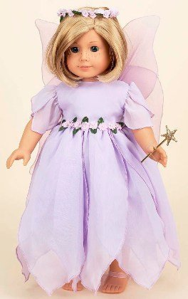 Lavender Fairy Costume. Complete Outfit. Fits 18 inch Dolls