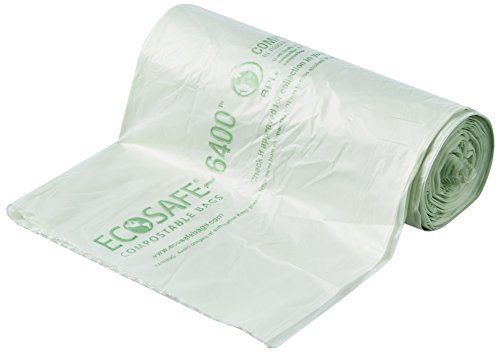 STOUT EcoSafe-6400 Compostable Bags, Green, 24 count
