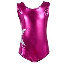 Arshiner Littler Girls Gymnastics Solid Sparkle Leotard