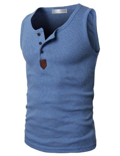 H2H Mens Fashion Sleeveless Basic Sport Tank Top Of Various Colors
