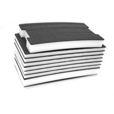 Rigid Foam - FastCap FOAM57MMB-W 57-MM Thick 2' x 4' Kaizen White/Black Foam w/ 1/8