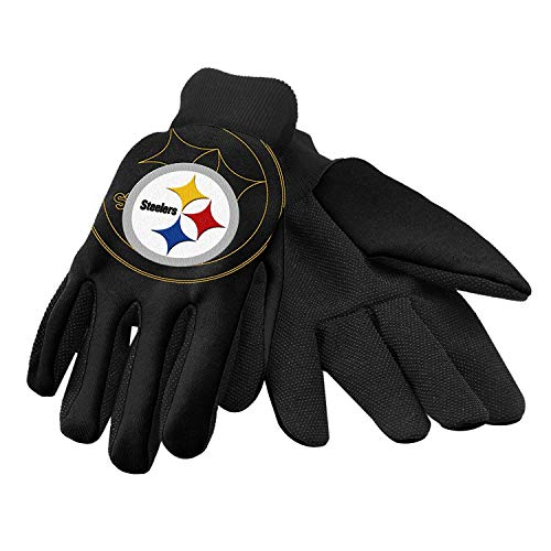 Authentic NFL Football Utility Gloves - Pittsburgh Steelers ! Small size