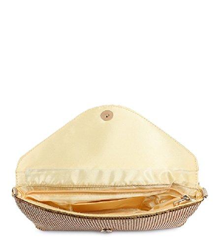 Ladies ME68005 Party Diamante Clutch Handbag Women's Silver Bag Evening Envelope vq8vwTPr