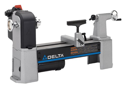 Delta Industrial 46-460 12-1/2-Inch Variable-Speed Midi Lathe by Delta