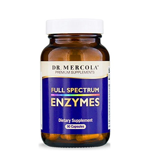 Dr. Mercola, Full Spectrum Enzymes, 30 Servings (90 Capsules), non GMO, Soy-Free, Gluten Free ()