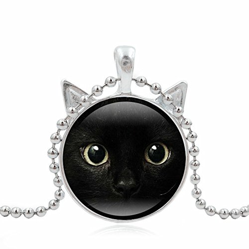 Womens Necklace Cute Cat Animal Pendant Chain Gifts for Mom Wife Daughter Mixpiju (Silver) by Mixpiju-Jewelry (Image #2)