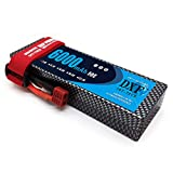 DXF 2S 7.4V 6000mAh 50C Lipo Battery Pack Hard Case with Deans T Plug for Traxxas Slash Emaxx Bandit Rustler Version HPI Buggy 1 8 1 10 RC Car RC Trucks